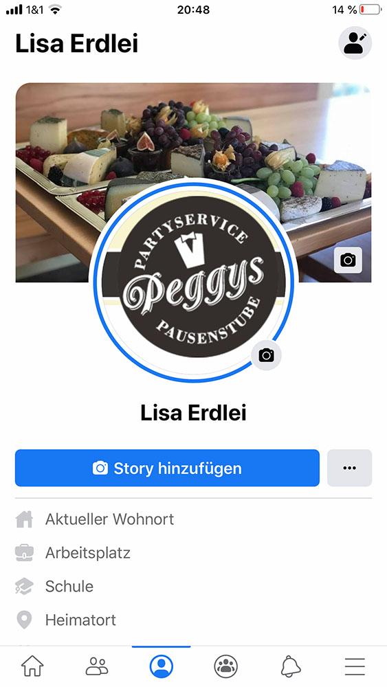 Lisa bei Facebook