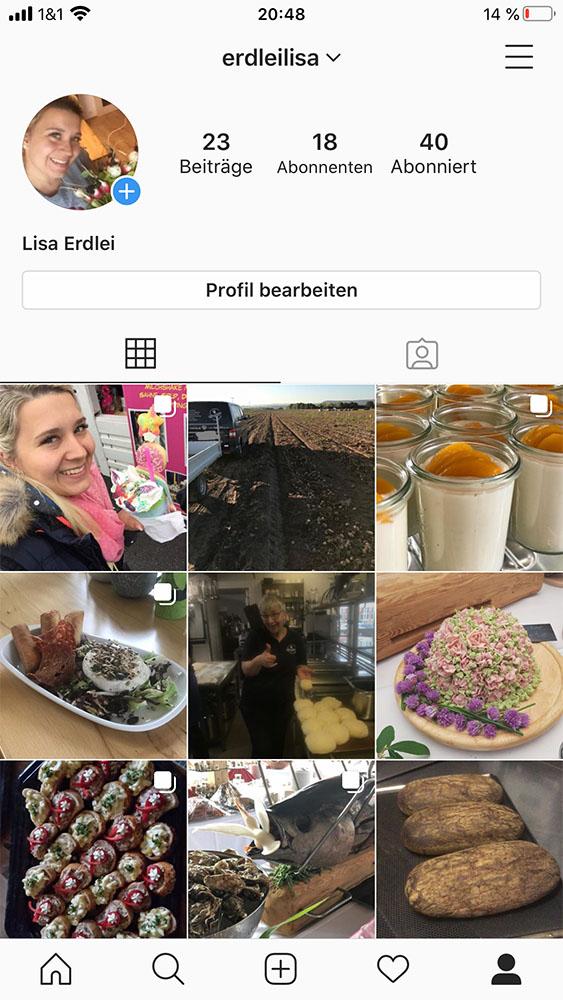 Lisa bei Instagram